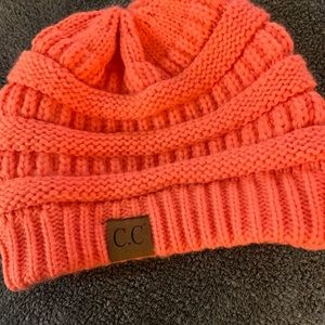 Bright orange cc beanie